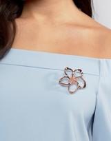 Ted Baker Belvas Crystal Blossom Brooch