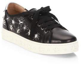 Aquazzura Cosmic Star Leather Sneakers