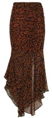 Nicholas Asymmetric Gathered Floral-print Silk-chiffon Midi Skirt