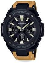 G-Shock G-Steel Leather Watch