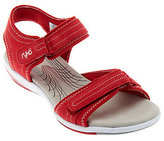 Ryka Suede Ankle Strap Sandals w/ Adj. Straps