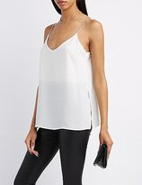 Charlotte Russe Slit Cami Tank Top