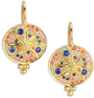 Temple St. Clair Celestial Multicolor Sapphire & 18K Yellow Gold Sorcerer Drop Earrings