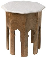 Jamie Young Atlas Side Table, White Marble