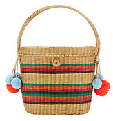 Sophie Anderson Cinto Rainbow Straw Box Bag