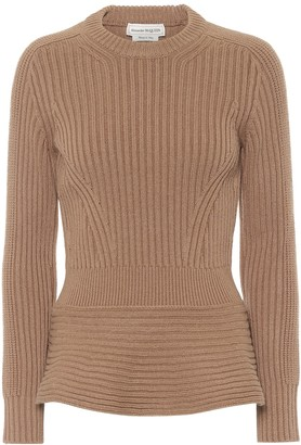 Alexander McQueen Ribbed-knit wool and cashmere sweater