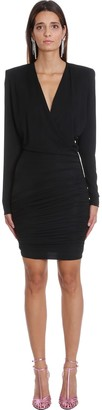 Alexandre Vauthier Dress In Black Viscose
