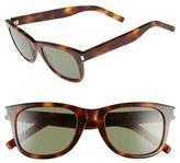Saint Laurent Men's 50Mm Sunglasses - Avana/ Avana/ Green
