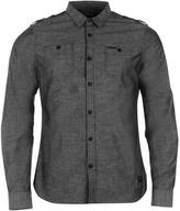 Firetrap Blackseal Chambray Long Sleeve Shirt