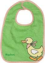 Playshoes 28 x 27cm Baby Bib Duck (Green) by