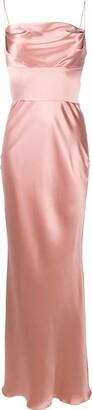 Dolce & Gabbana Draped Detail Silk Dress