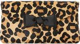 Dune Breya leopard-print envelope clutch