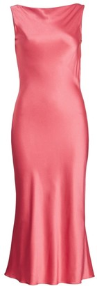 Jason Wu Collection Bias-Cut Satin Crepe Midi Dress