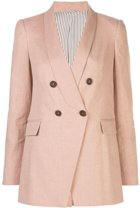 Brunello Cucinelli Fitted Double-Breasted Blazer