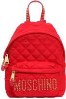 Moschino Small Studded Quilted Nylon Backpack