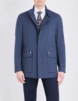 Brioni Geometric-print wool flight jacket