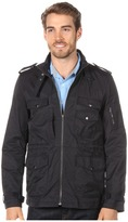Calvin Klein Jeans Military Cotton Nylon Jacket (Dark Navy) - Apparel