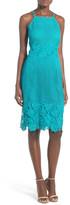 Willow & Clay Applique High Neck Midi Dress
