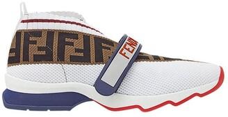 Fendi Rockoko FF motif inlay sneakers