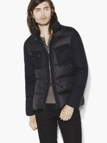 John Varvatos Multi-Pocket Down Jacket