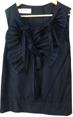 Marni Blue Silk Tops