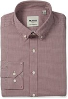 Ben Sherman Men's Twill Check Shirt with Button Down Collar