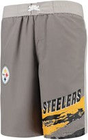 Trunks Outerstuff Youth Charcoal Pittsburgh Steelers Heat Wave Swim