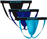 Papi Men's 3-Pack Cotton Stretch Jock Strap