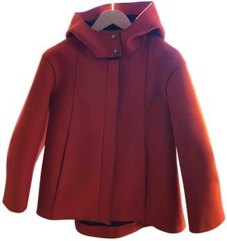 Jil Sander Orange Wool Coat for Women