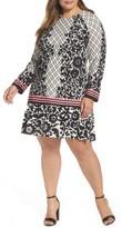 Eliza J Plus Size Women's Lace Trim Shift Dress