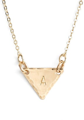 Nashelle Nashelle14k-Gold Fill Initial Triangle Necklace