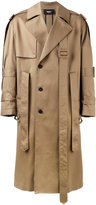Yang Li belted trench coat - men - Cotton - 46
