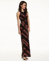 Le Château Abstract Print Chevron Maxi Dress