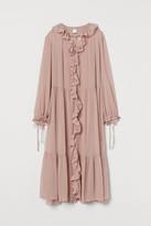 H&M Wide-cut Tiered Dress - Pink