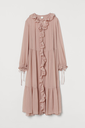 H&M Wide-cut Tiered Dress - Pink