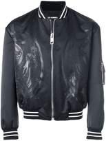 Les Hommes dragon patch bomber jacket