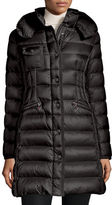 Moncler Hermine Hooded Long Puffer Coat