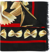 Dolce & Gabbana pasta printed scarf - women - Modal/Cashmere - One Size