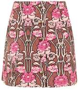Topshop Rose print cord a-line skirt