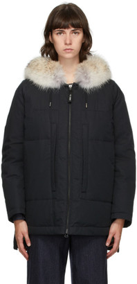 Army by Yves Salomon Yves Salomon - Army Black Down Doudoune Jacket