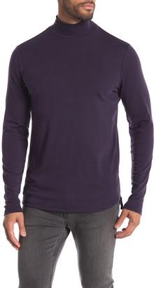 NATIVE YOUTH Hopton Spacedye Mock Neck Long Sleeve Shirt