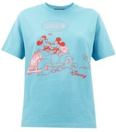 Gucci Mickey Mouse-print Cotton T-shirt - Womens - Blue
