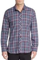 Jared Lang Regular-Fit Plaid Cotton Sportshirt