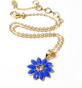 Amrita Singh Austrian Crystal & Blue Holi Flower Pendant Necklace