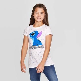 Disney Girls' Stargazer Lilo & Stitch Short Sleeve T-Shirt -