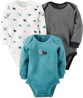 Carter's 3 Pack Side Snap Bodysuits (Baby) - Multi - Newborn