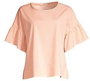 Peserico Women's Flutter Sleeve Blouse