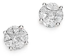 Bloomingdale's Diamond Cluster Stud Earrings in 14K White Gold, 1.0 ct. t.w. - 100% Exclusive