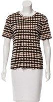 Tory Burch Polka Dot Printed Short Sleeve T-Shirt