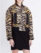 Kenzo Tiger-stripe jacquard jacket